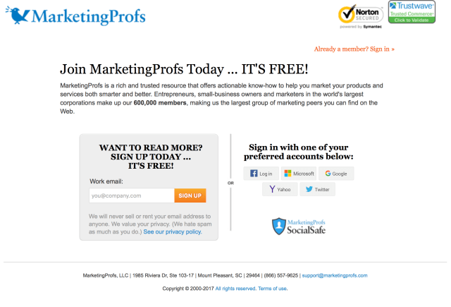 marketingproofs website