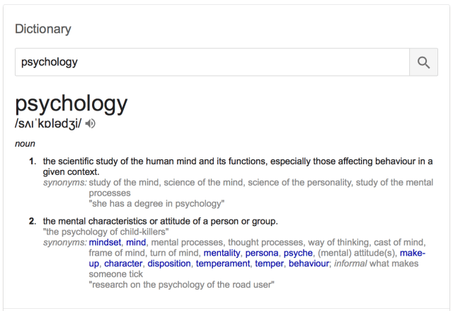 meaning of psychology