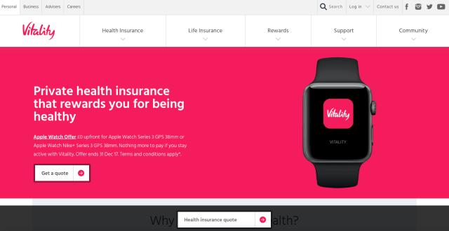Vitality insurance