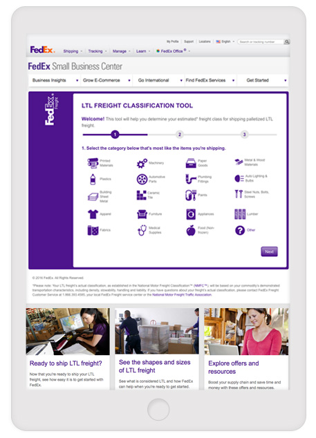 fedex interactive content example