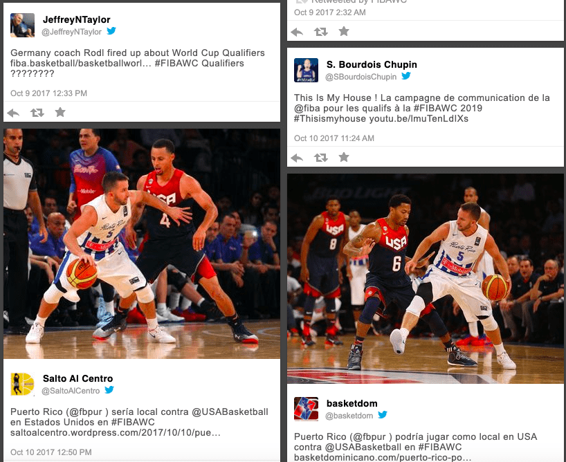 FIBA Basketball social wall