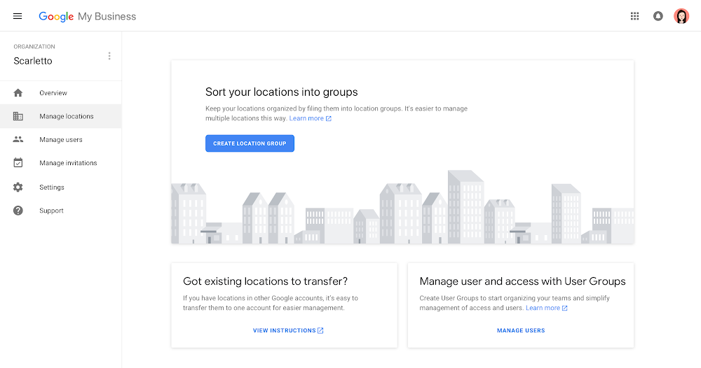google my business platform
