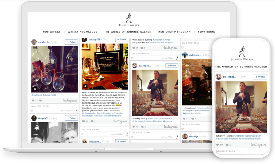 social wall for johnnie walker