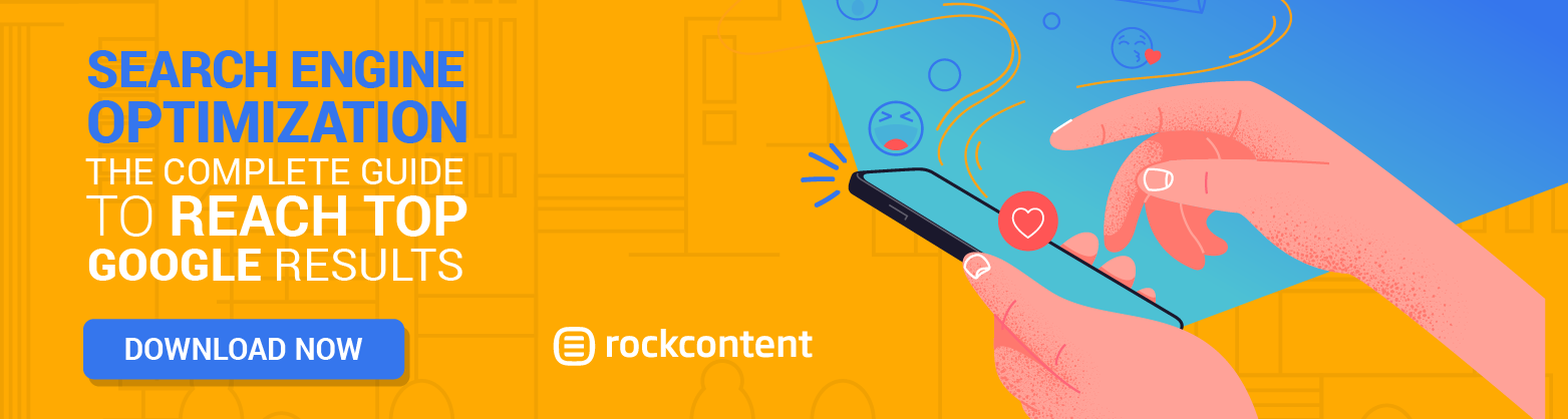 Rock Content's SEO Guide Promotional Banner