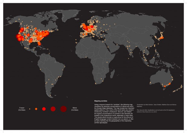 The Zombie Map of the World