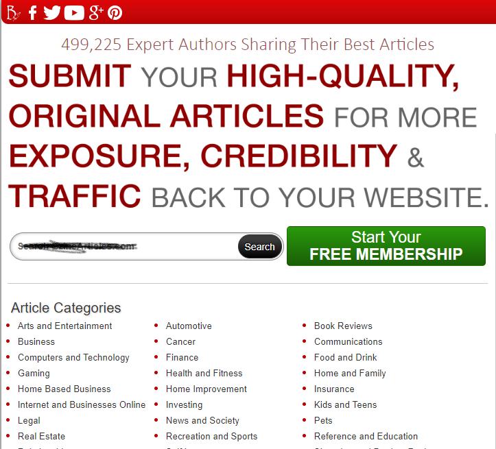 site com muitos anúncios