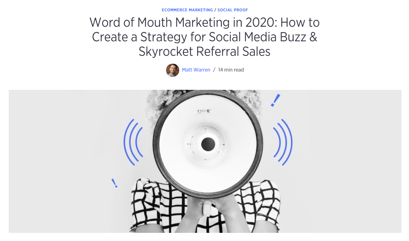 Word of Mouth Marketing in 2020 post
