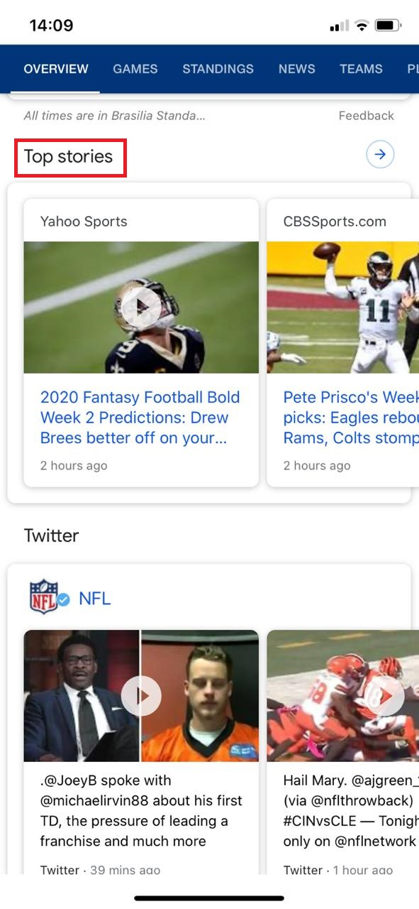 top stories on google discover