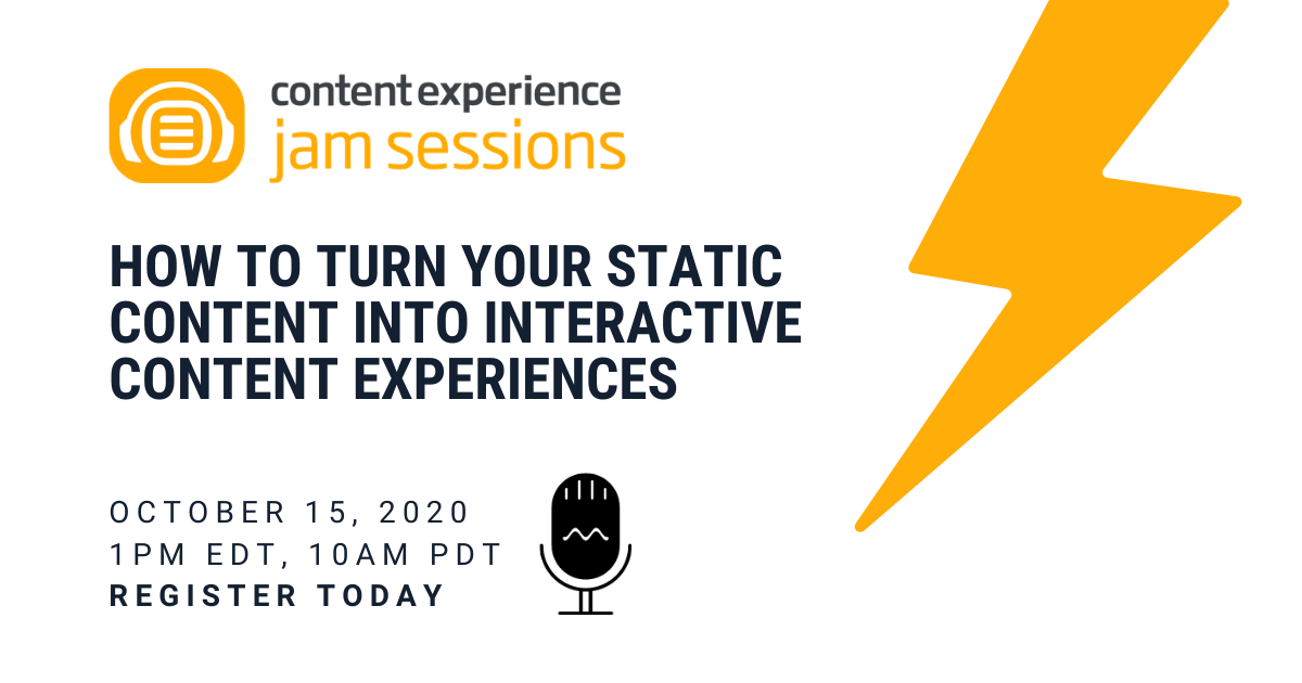 content experience jam sessions