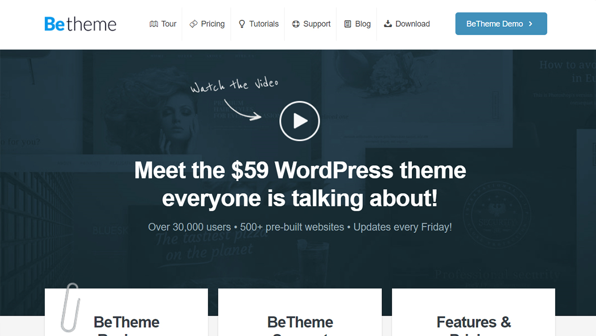 betheme premium wordpress theme