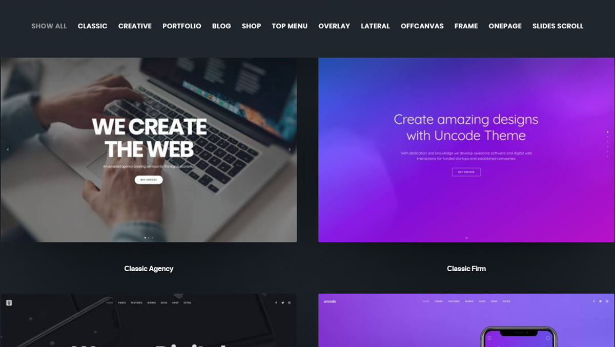 uncode premium wordpress theme