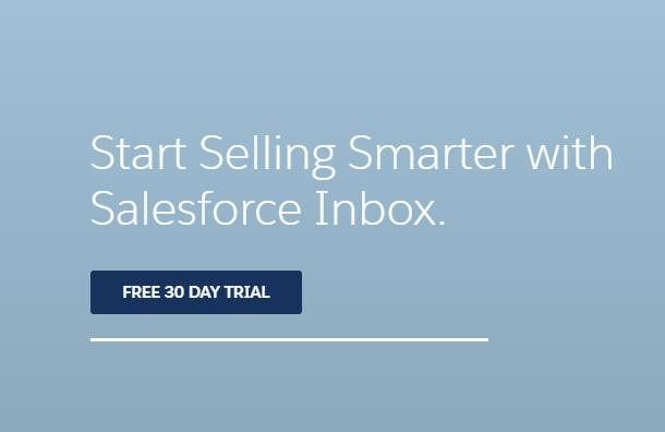 CTA para free trial da Salesforce