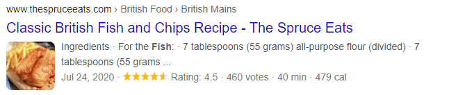 recipe on google