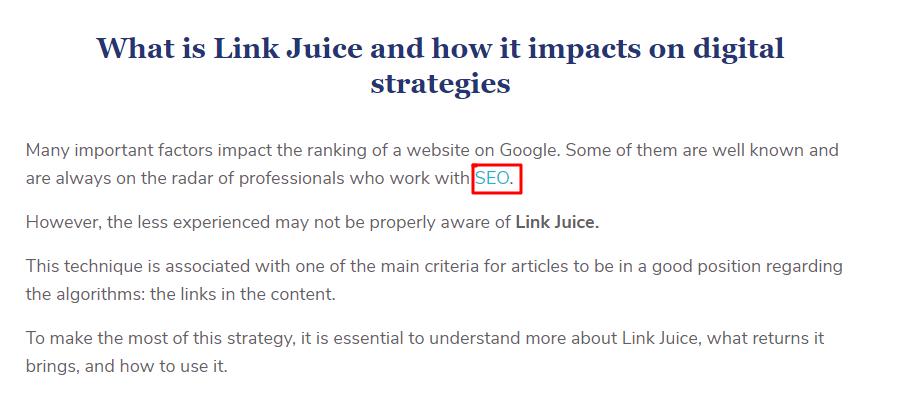 link hierarchy