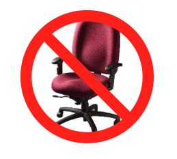 No sitting down