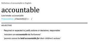 Definition - Accountable