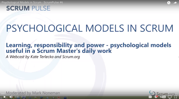 Psychological Models of Scrum