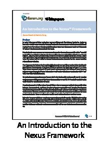 Introduction to the Nexus Framework Whitepaper
