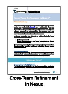 Cross-Team Refinement in Nexus Whitepaper