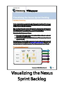 Visualizing the Nexus Sprint Backlog