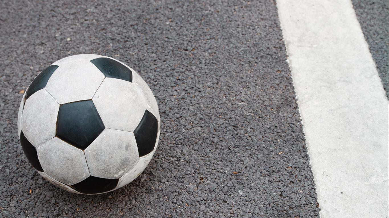Soccer Ball on Road