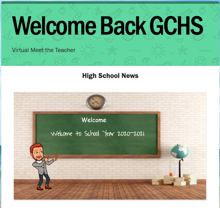 Genoa Central High School Virtual Meet the Teacher