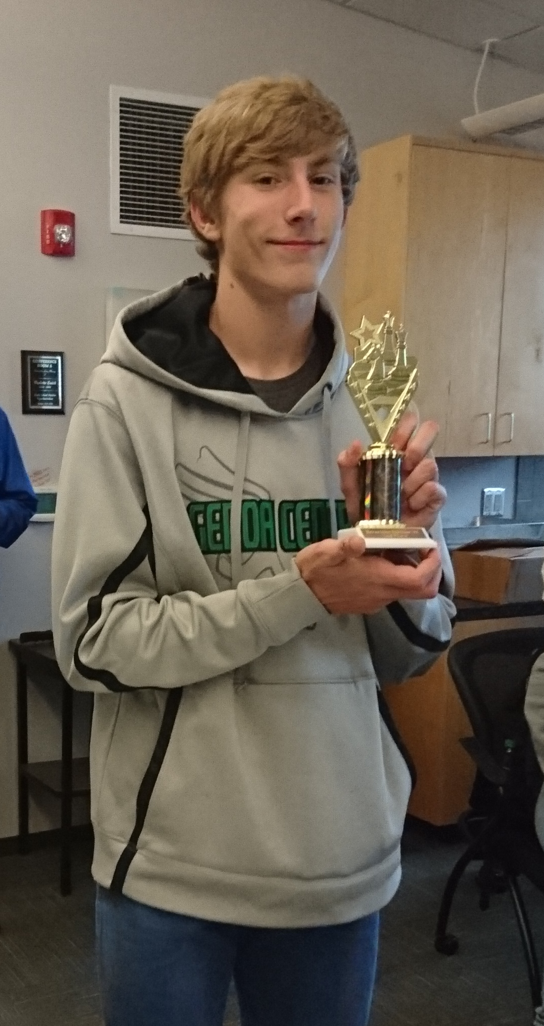 Colby 2nd Place Blevins Chess Tournament