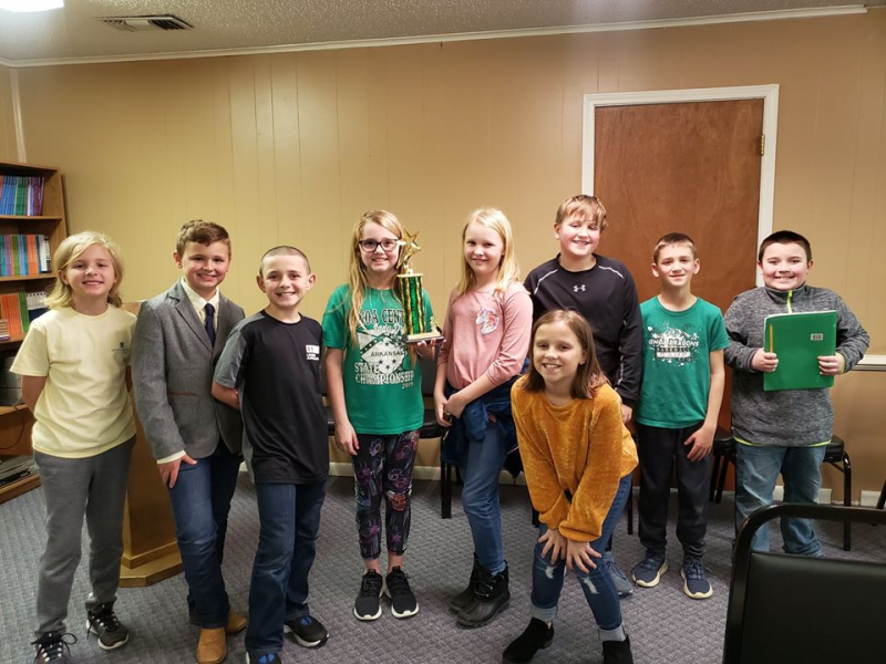 GCES Fourth Graders Place at Quiz Bowl Tournament