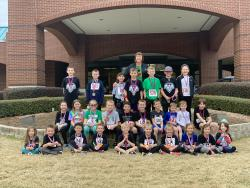 GCES Students Participate in  Kids Run the Line Too Race