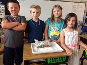 Mrs. Richardson's Class- Showing off their project!