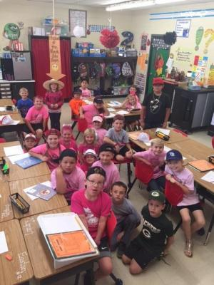 Mrs. Cobb's Class- Pink Out Day!!!