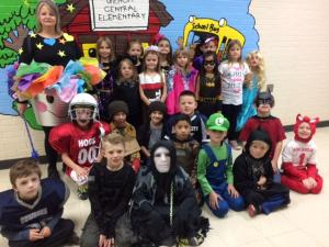 Mrs. Richardson's Class on Halloween!