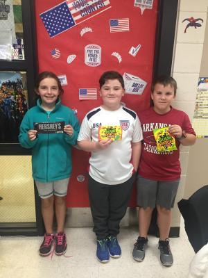 Top 3 AR winners - Mrs. Redfearn's Class