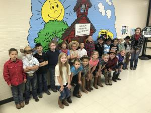 Ms. Colbert's Class on Western Day!