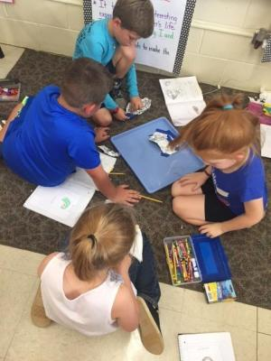 Mrs. Cobb's Class- Working together during Science!