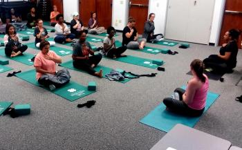 Teachers learn yoga to teach their students.