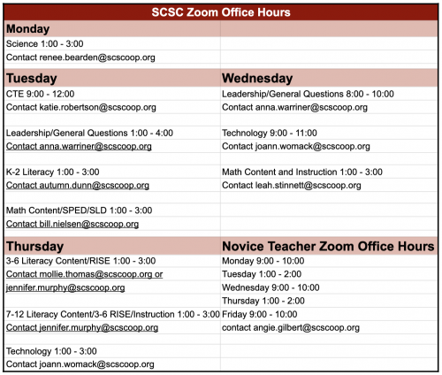 zoom office hours link