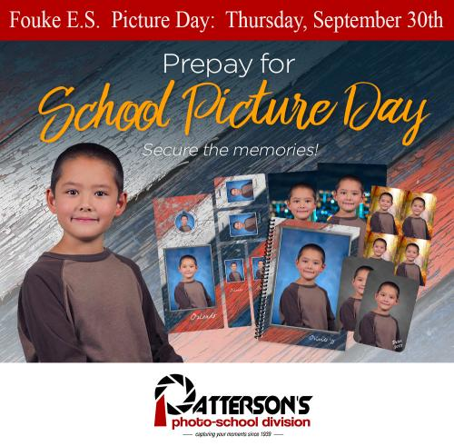 ELEMENTARY PICTURE DAY SEPT 30