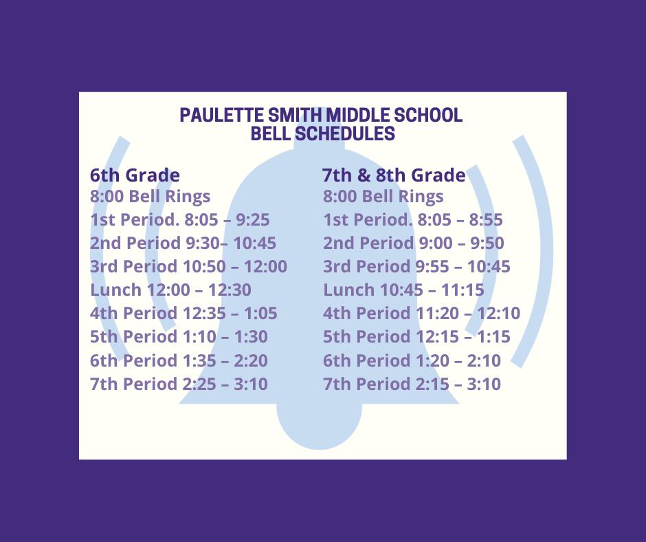 PSMS Bell Schedule