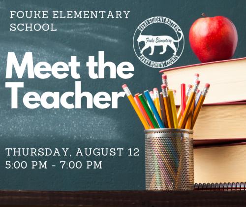 Meet the Teacher August 12th