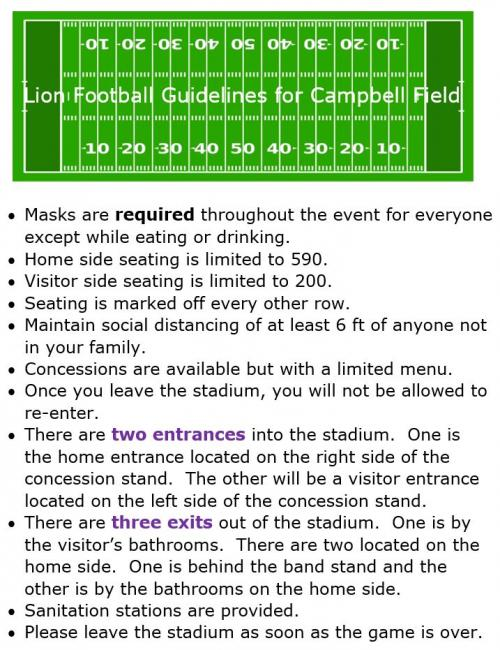 Guidelines for Football Games