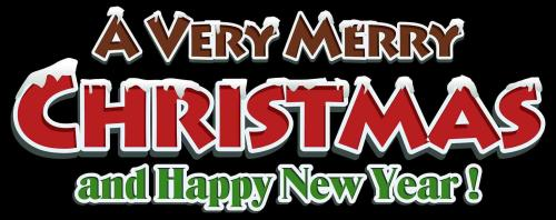 very merry christmas and happy new year