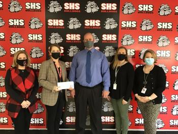 Sikeston R-6 Donates Check to Salvation Army