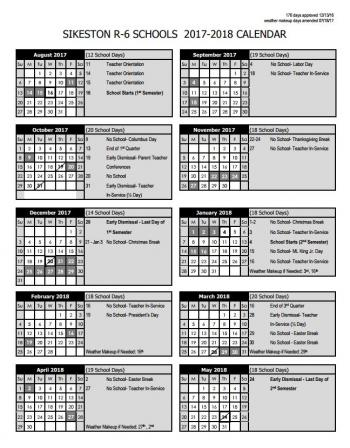 Printable 17-18 District Calendar