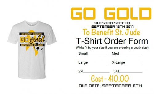 Go Gold T- Shirt Image