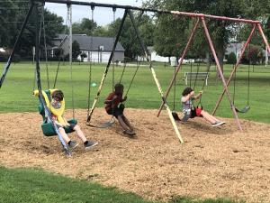 Swinging at Recess
