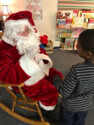 Sensory Student Meeting Santa