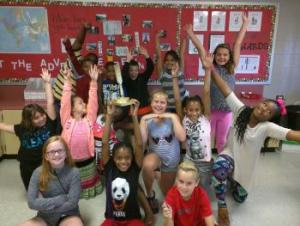 Miss. Rodriguez's 4th Grade class (Sept. Best Art Class winner)