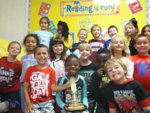 Mr. Chaney's 1st Grade class (Sept. Best Art Class winner)