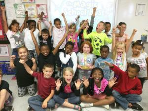 Miss Heckemeyer's 2nd Grade Class (Sept. Best Art Class winner)